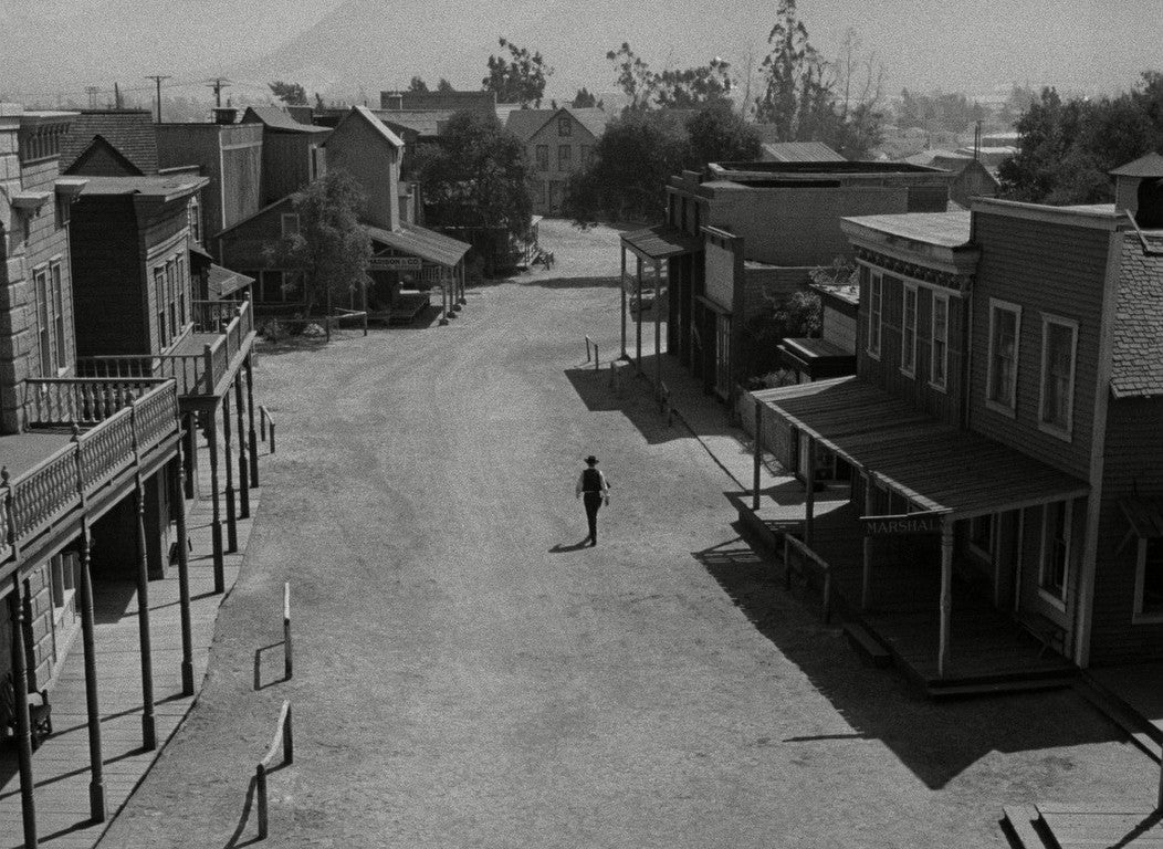 "A scene from ""High Noon"", 1952"