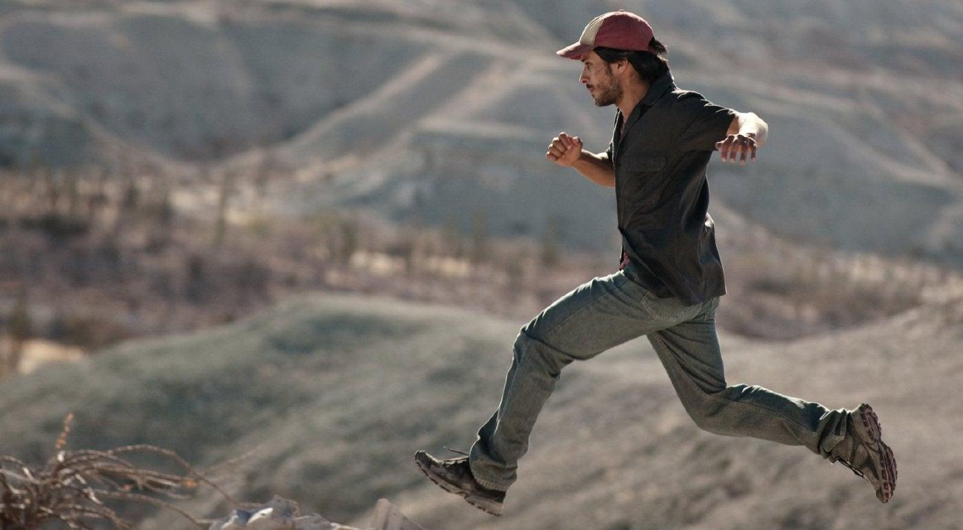 "Actors Gael Garcia Bernal , Golden Globe winner, in as cene from ""desierto"" (Mexico)"