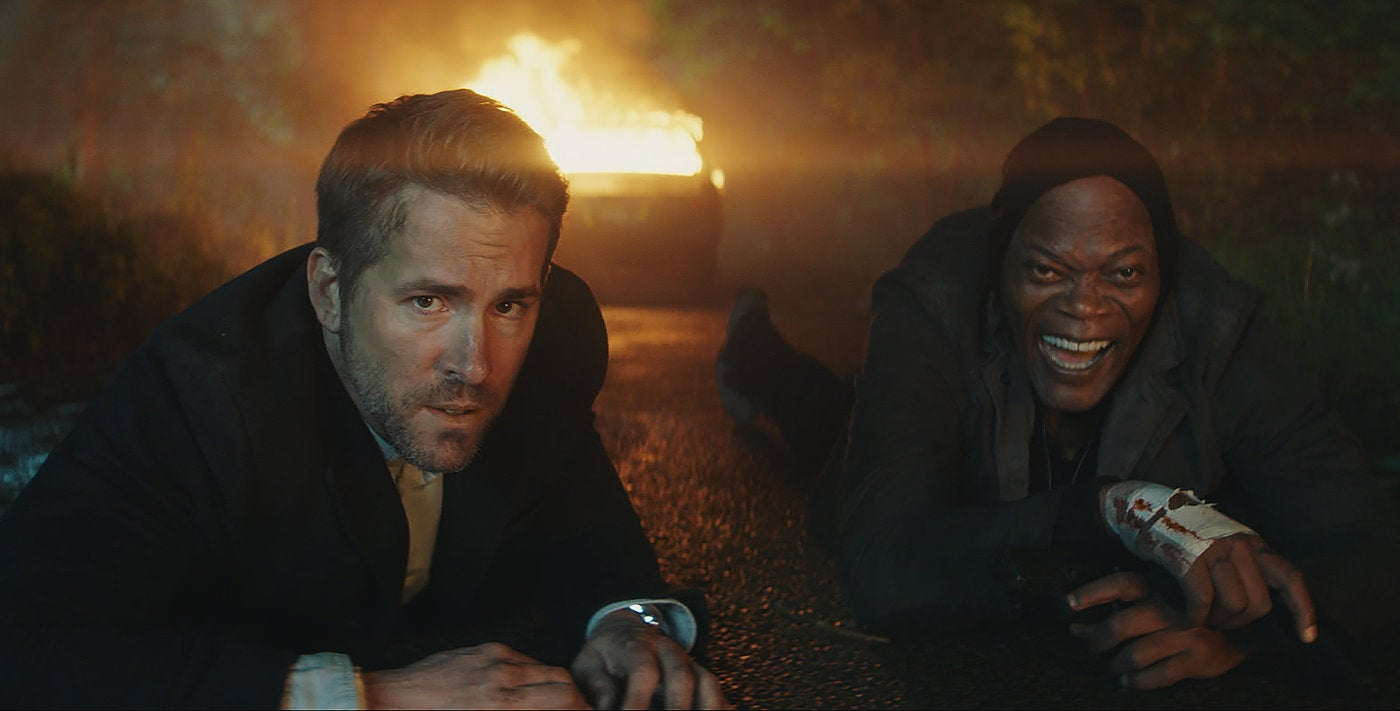 A scene from the movei The Hitman's Bodyguard