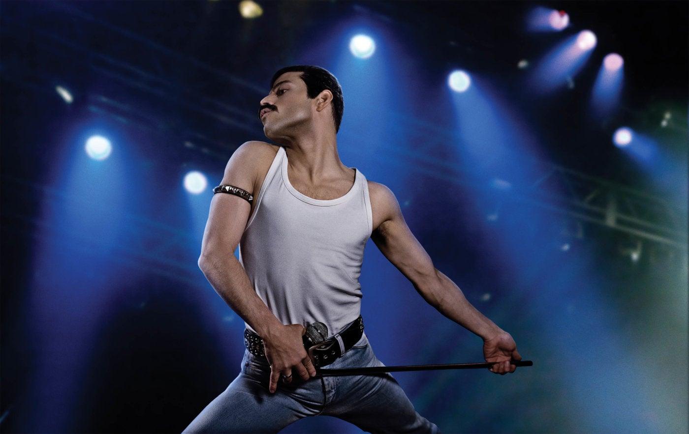 Rami Malek in a scene from Bohemian Rhapsody