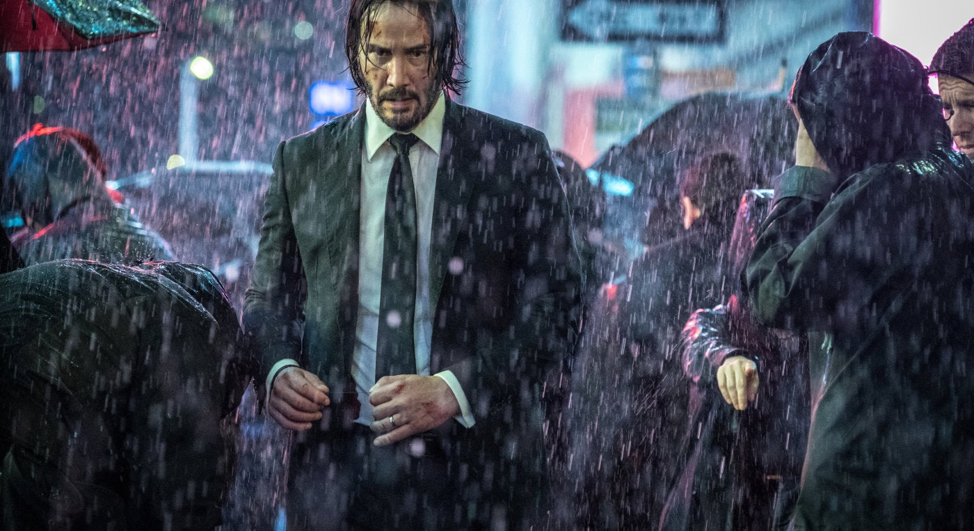 "Actor and director Keanu Reeves in a scene from ""John Wick:Chapter 3, Parabellum"""