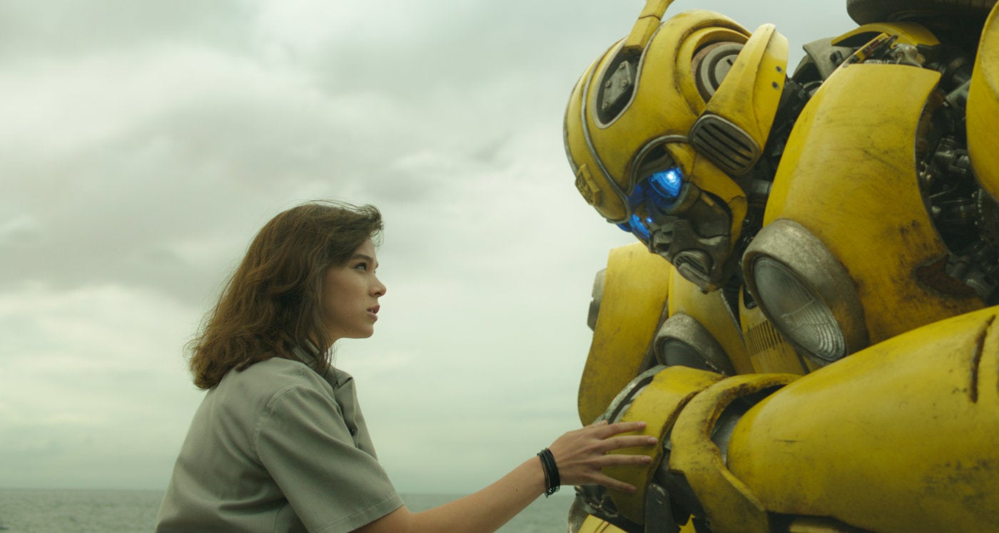 "A scebe from the movie ""Bumblebee"""