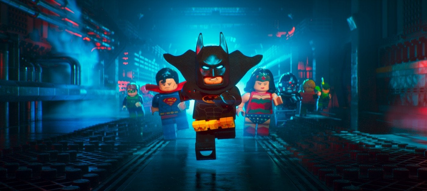 A scene from The Lego Batman Movie