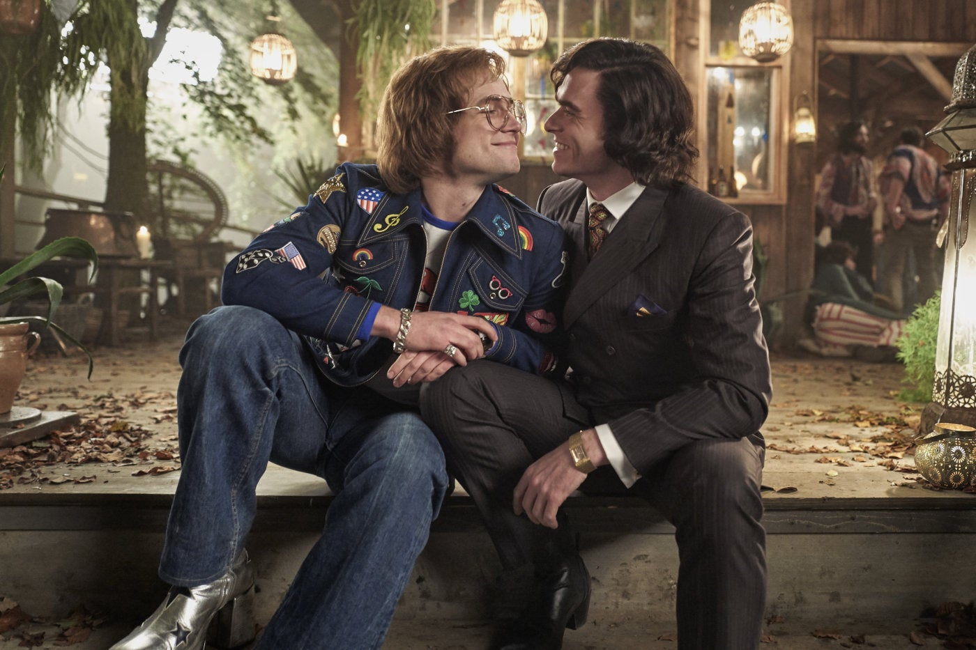 "Taron Egerton and Richard Madden in a scene from ""Rocketman"", 2019"