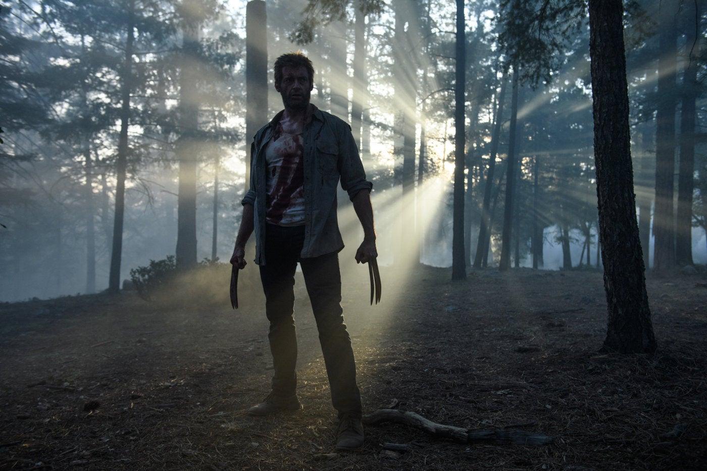 "Actor Hugh Jackman, Golden Globe winner, ina scene from ""Logan"""
