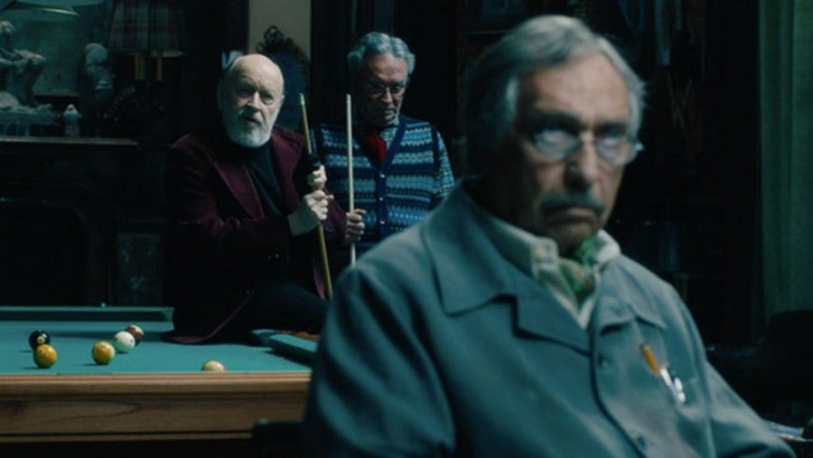 "Luis Brandoni, Oscar Martínez, and Marcos Mundstock in ""The Weasel's Tale"" (2019)"