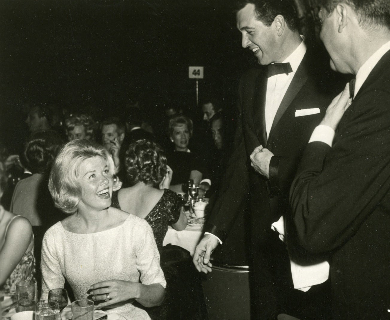 Golden Globe Moment Rock Hudson Congratulates Doris Day