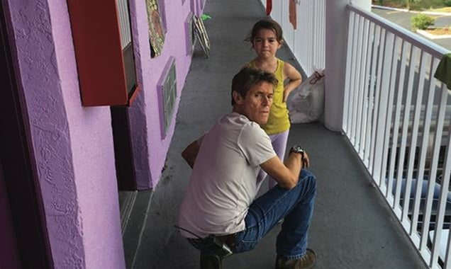 "Willem Dafoe iand Broklynn Prince in a scene from the film ""The Florida Project"""