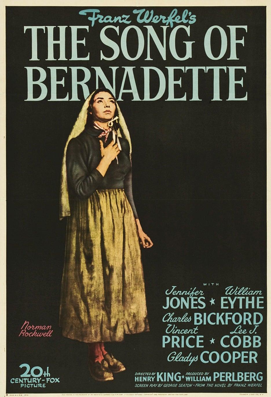 Song of Bernadette movie poster