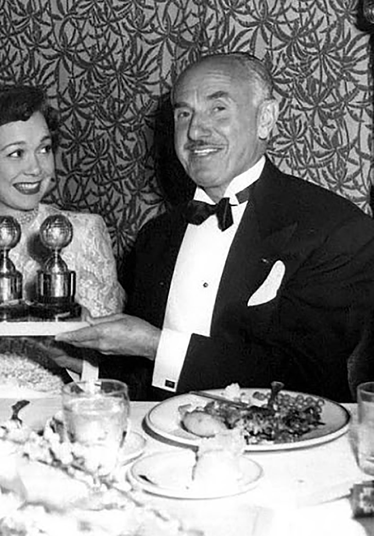 Jane Wyman with Jack L. Warner in 1949