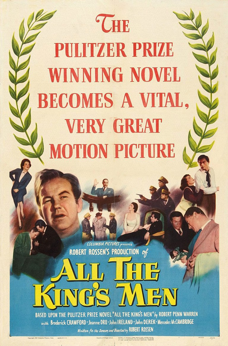 "Poster for the Golden Globe winning film ""All The King's Men"""