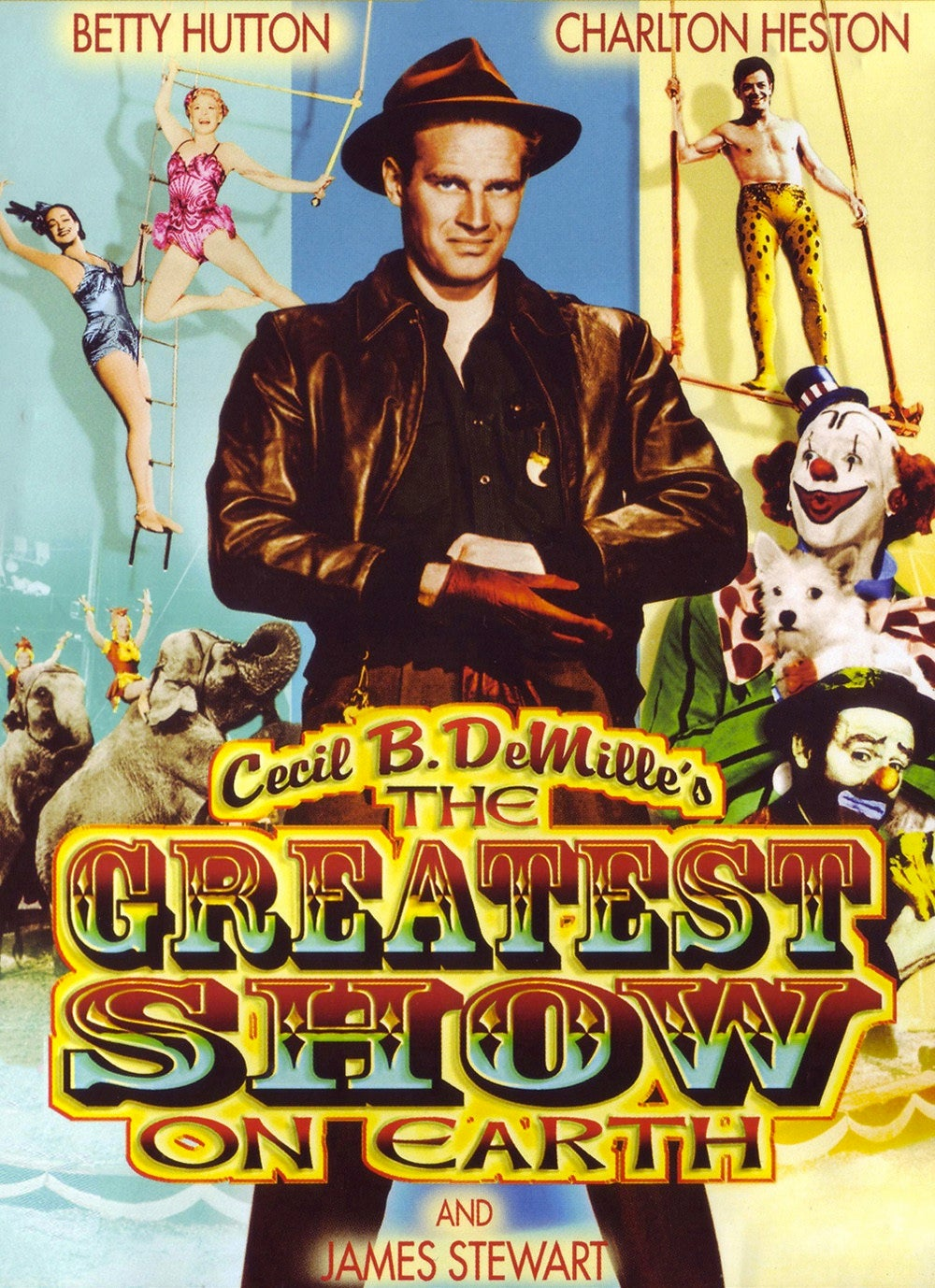 "Poster for the Golden Globe winning film ""The Greatest Show on Earth"""