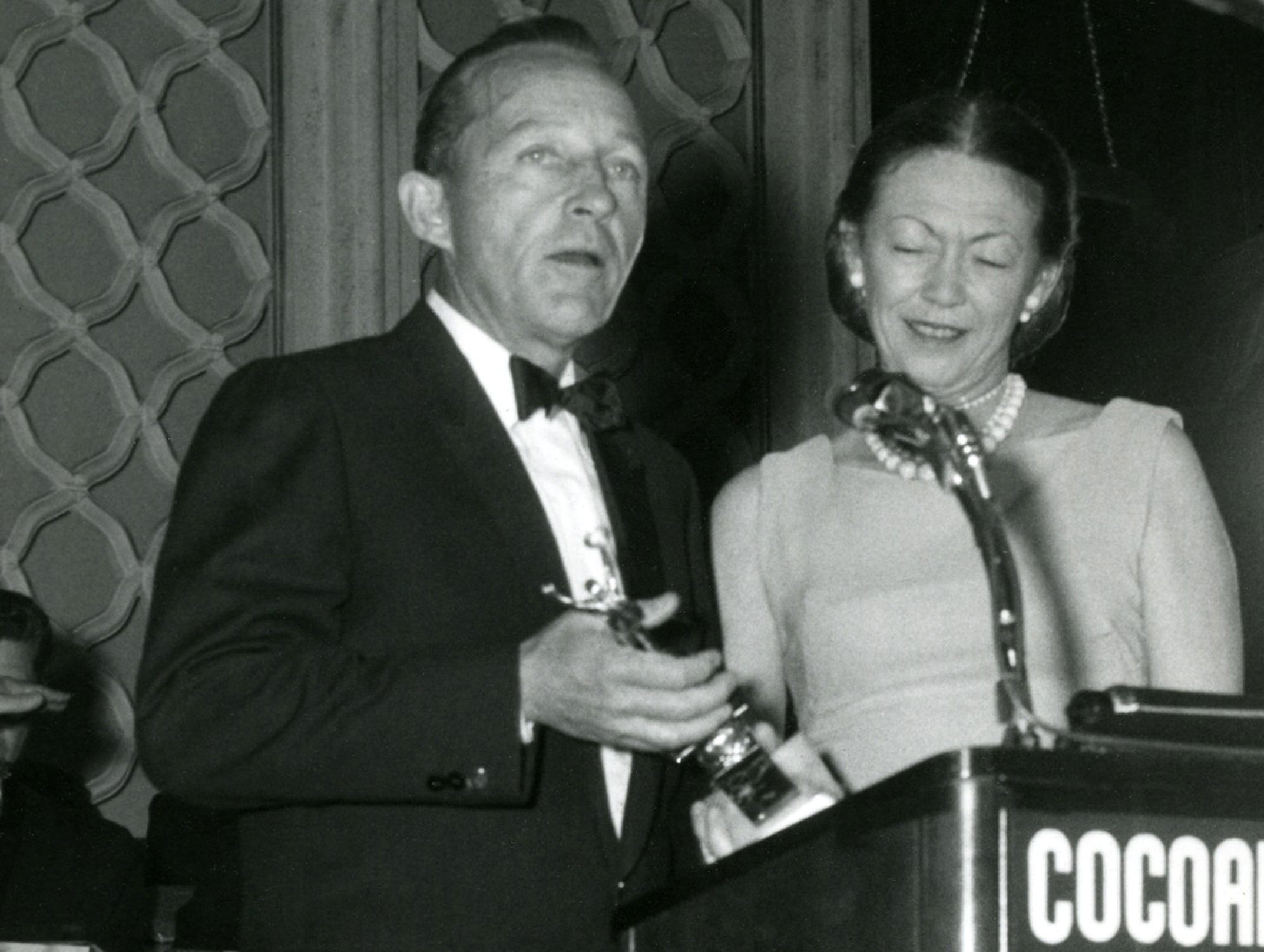 Actor and singer Bing Crosby, Cecil