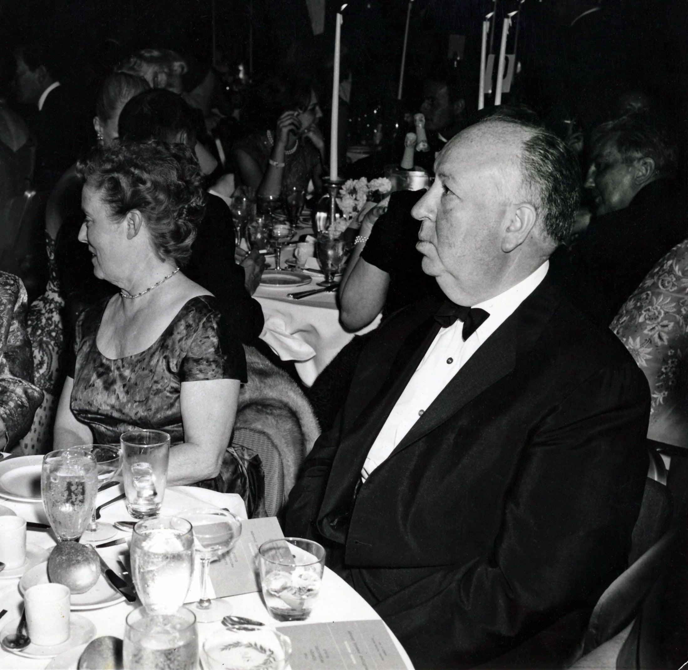 Filmmaker Alfred Hitchcock at the Golden Globes, 1960s