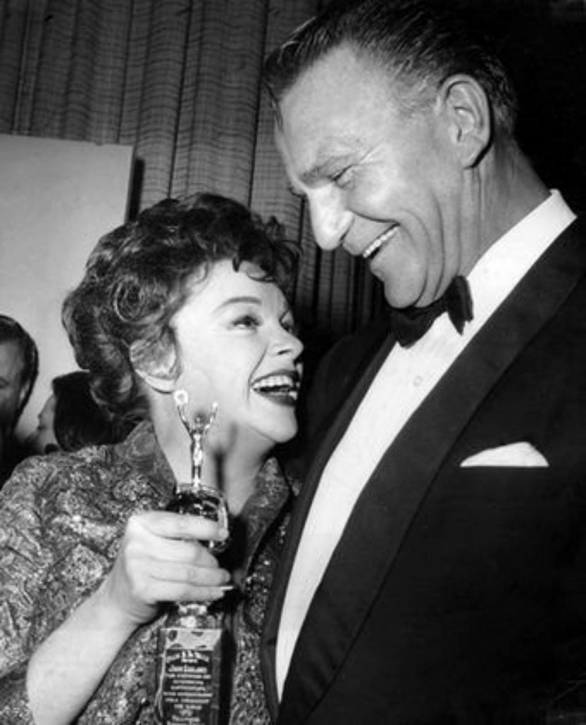 Judy Garland with presenter Henry Wilcoxon, 1962