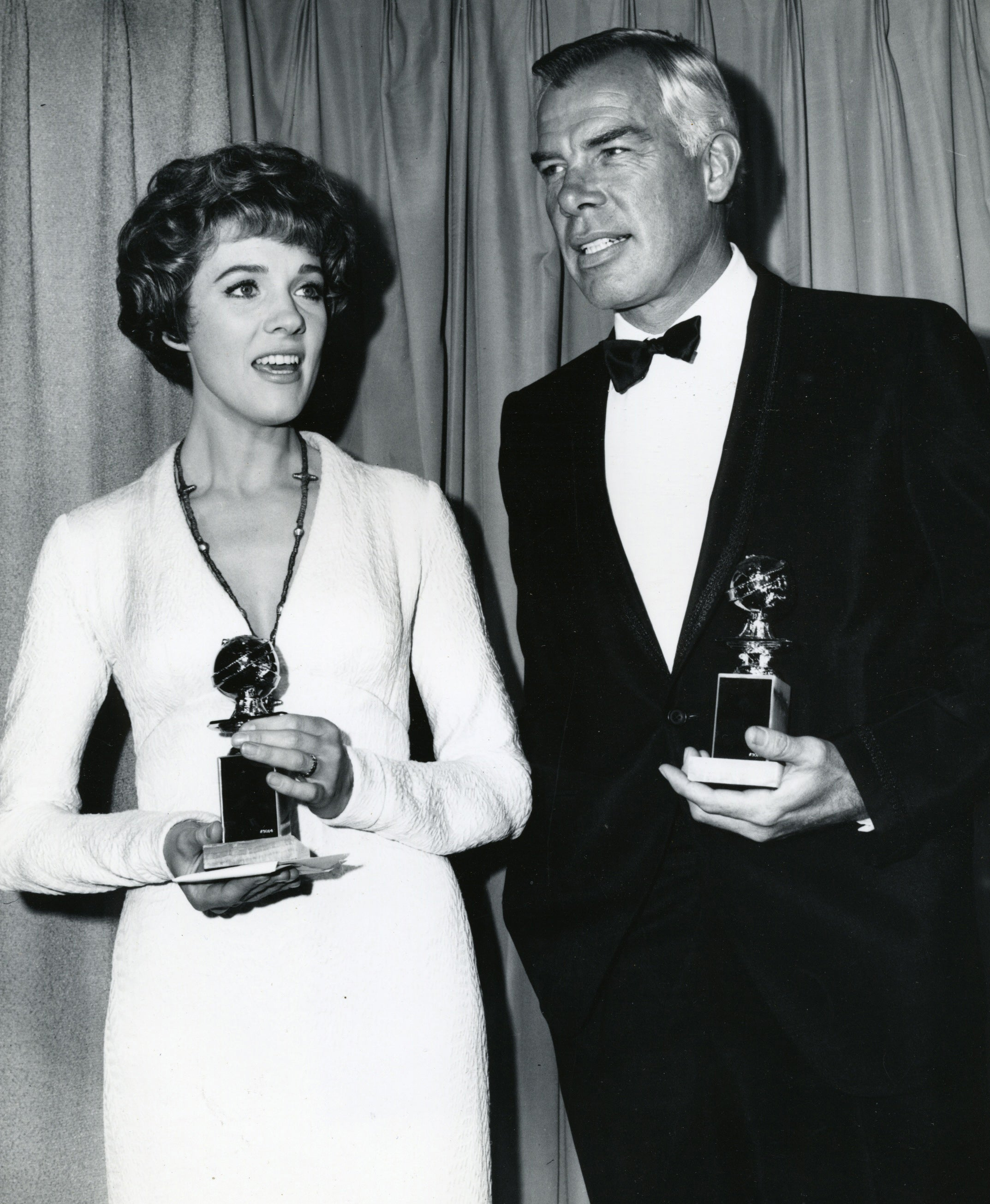 Julie Andres and Lee Marvin at the 1966 Golden Globes