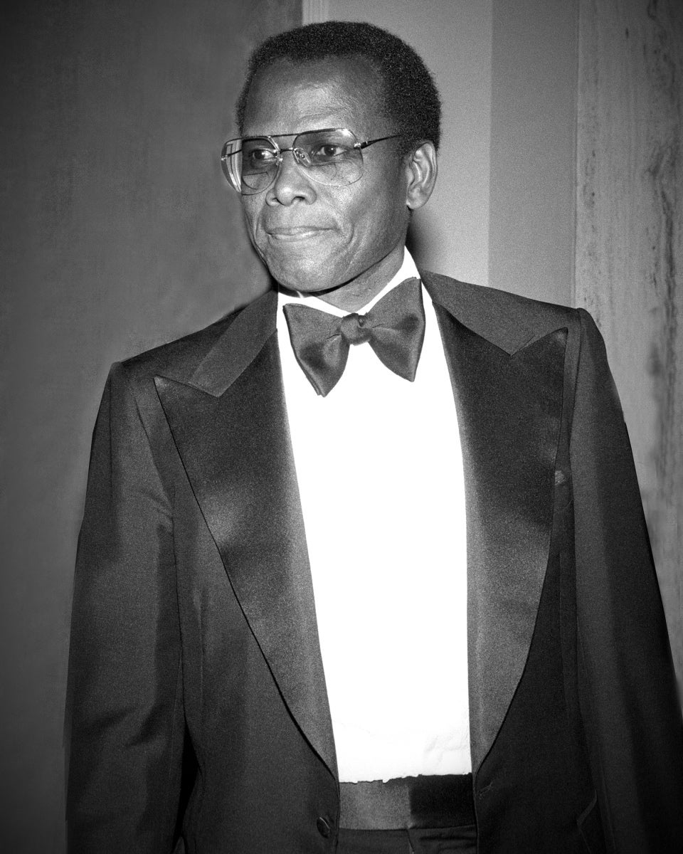 Actor Sideny Poitier, Golden Globe winner, Cecil B. deMille award recipient