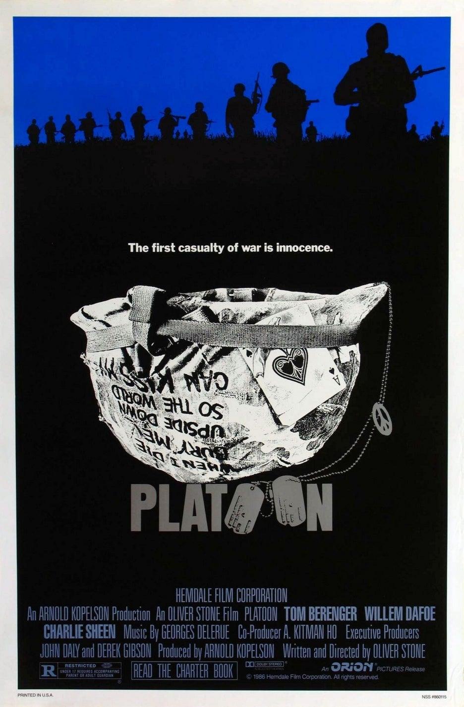 Platoon movie poster