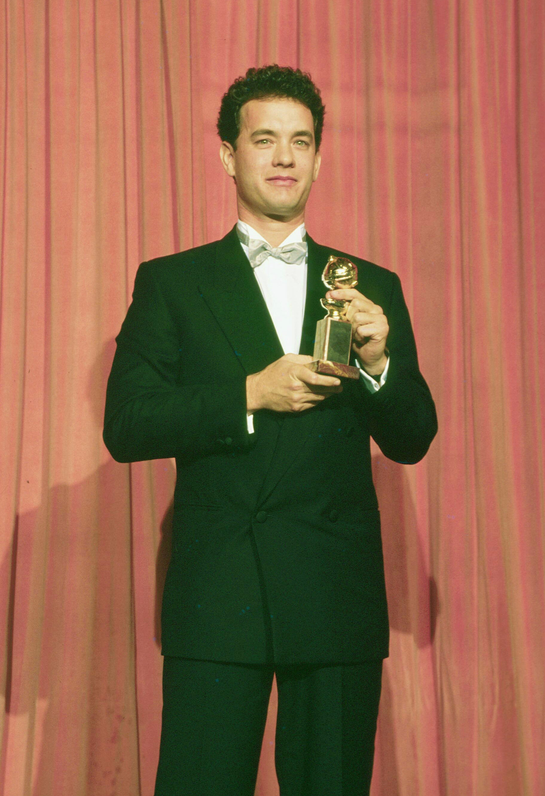 Flashback: Tom Hanks Collects His First Golden Globe, 1989 ...