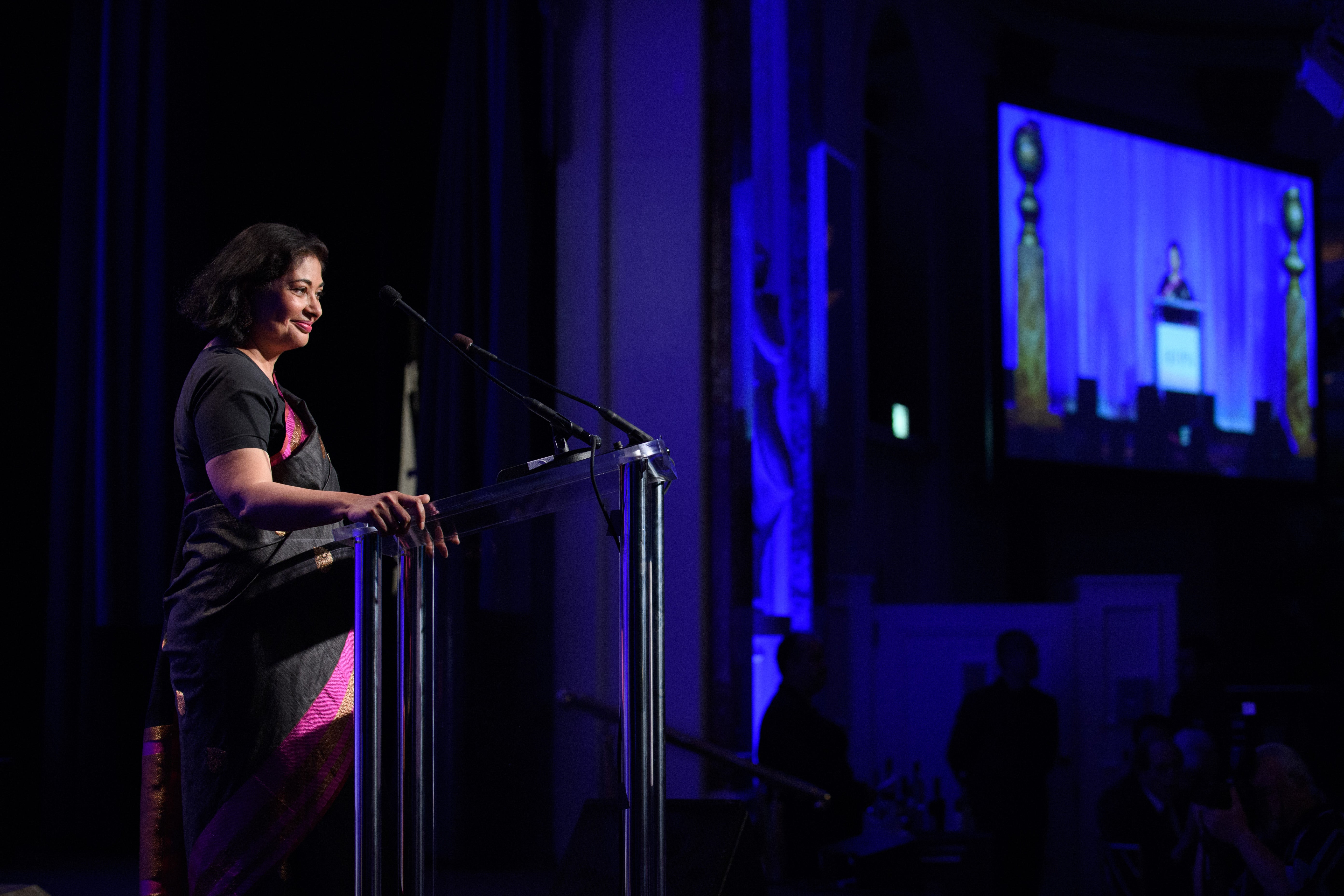 HFPA president Meher Tatna at the 2017 Grants Banquet