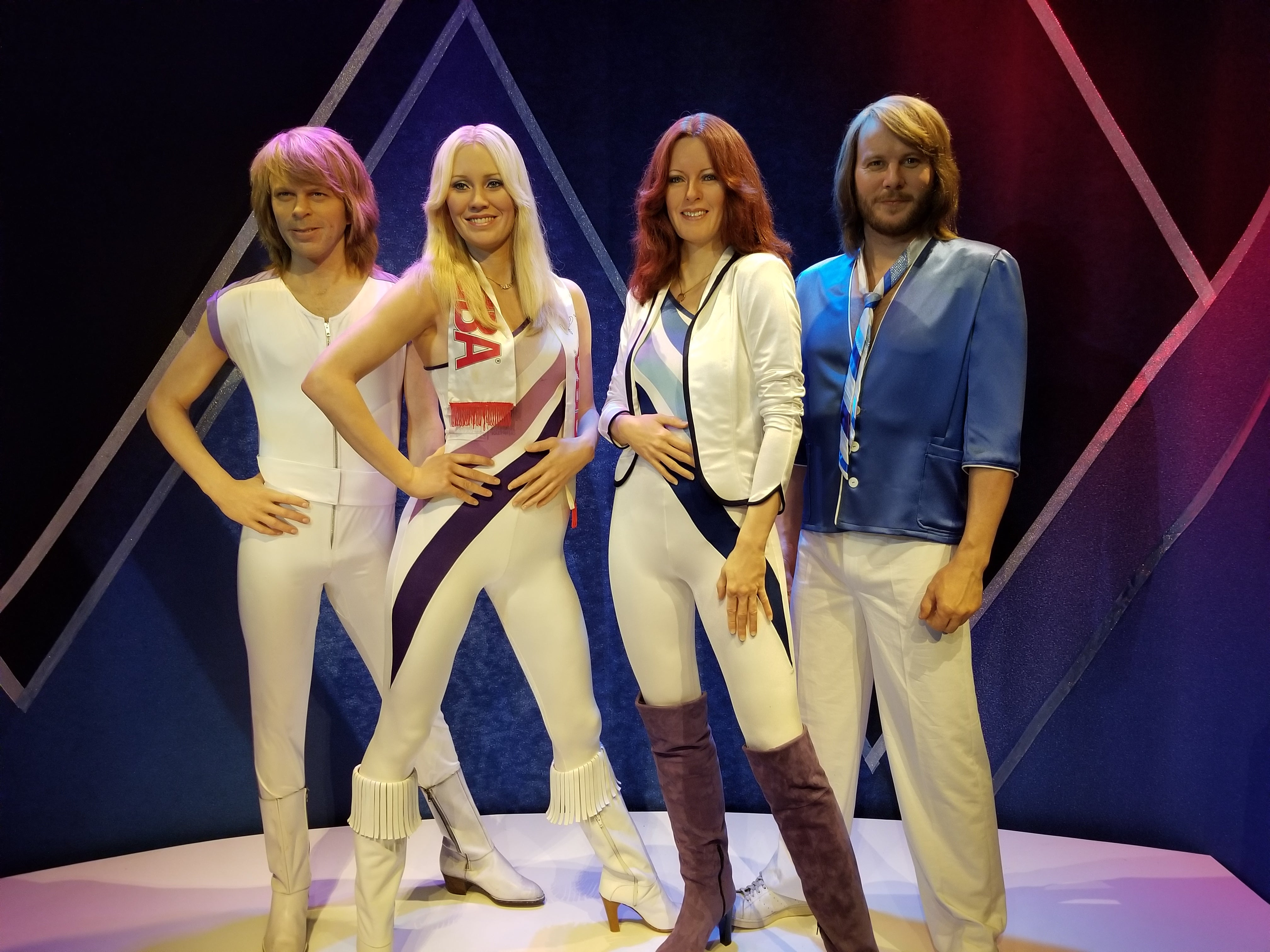 The band Abba as staties at their ABBA museum