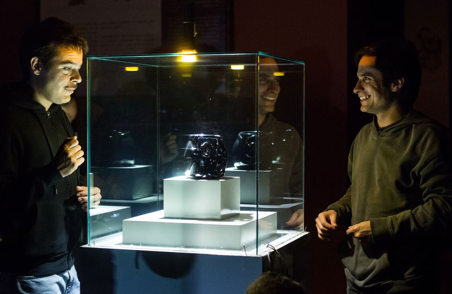 "Gael García Bernal and Leonardo Ortizgris in ""Museo"" (2018)"