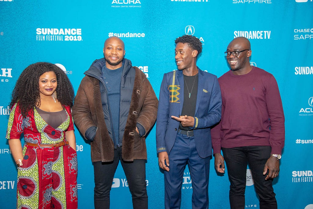 Director Sola Amoo & cast at Sundance 2019