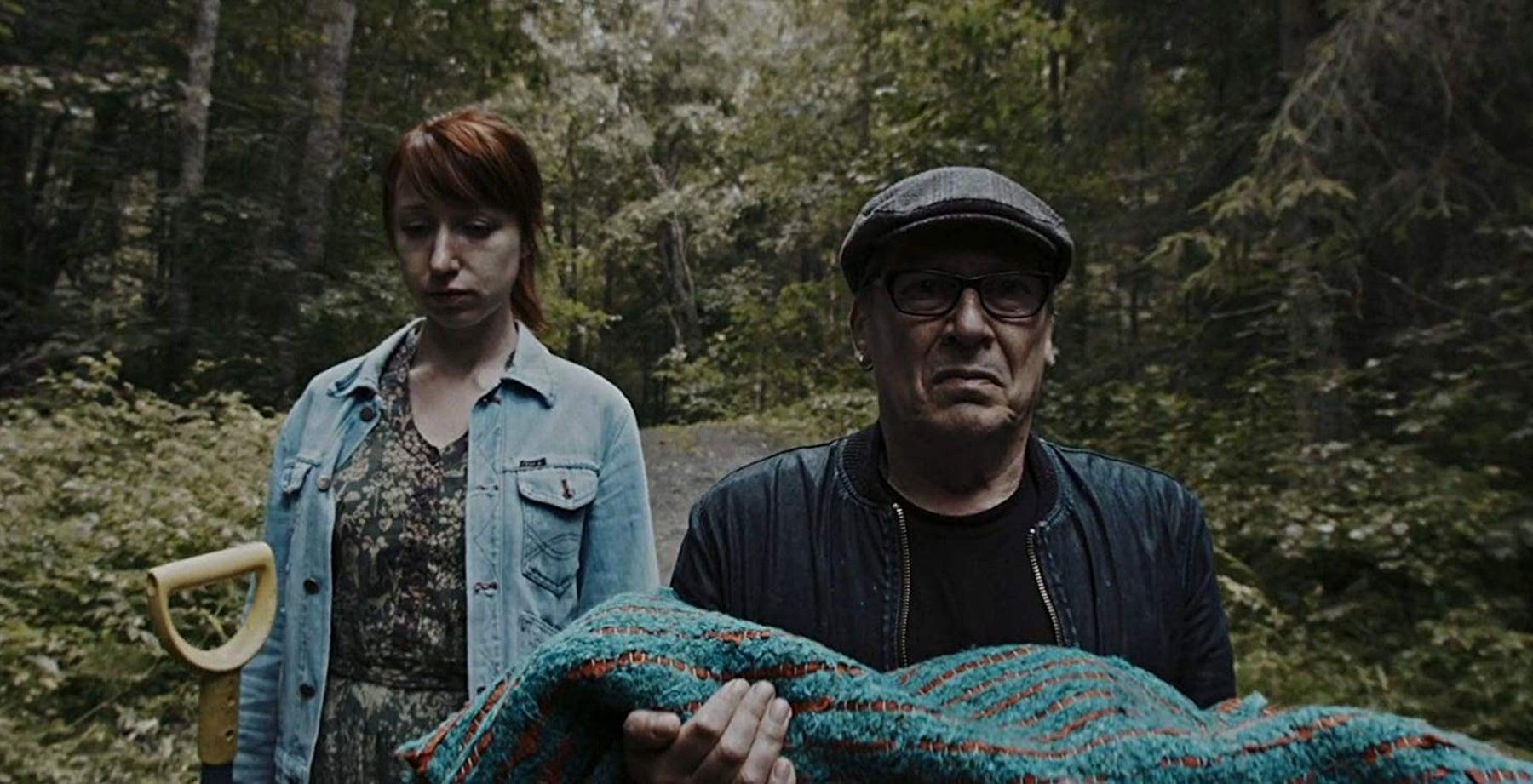 """Matti Onnismaa and Hannamaija Nikander in """"Euthanizer"""" (2017)"""