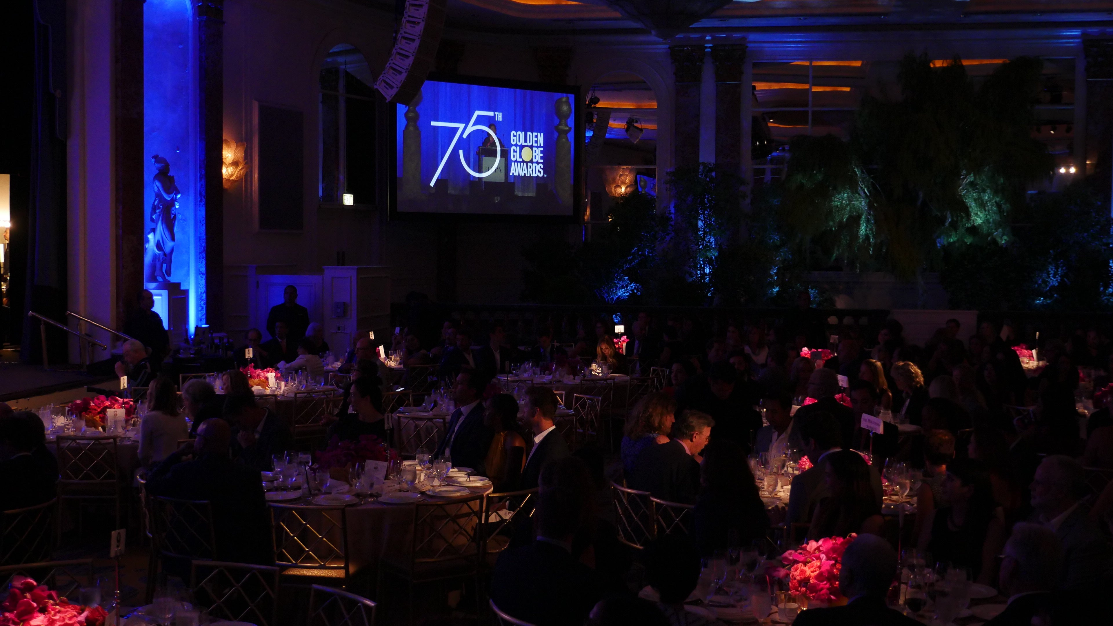 75th anniverasy Llogo unveiled at the HFPA Annual Grants Banquet