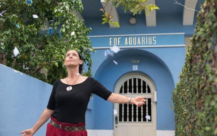 Golden Globe nominee Sonia Braga in a scene fom Aquarius