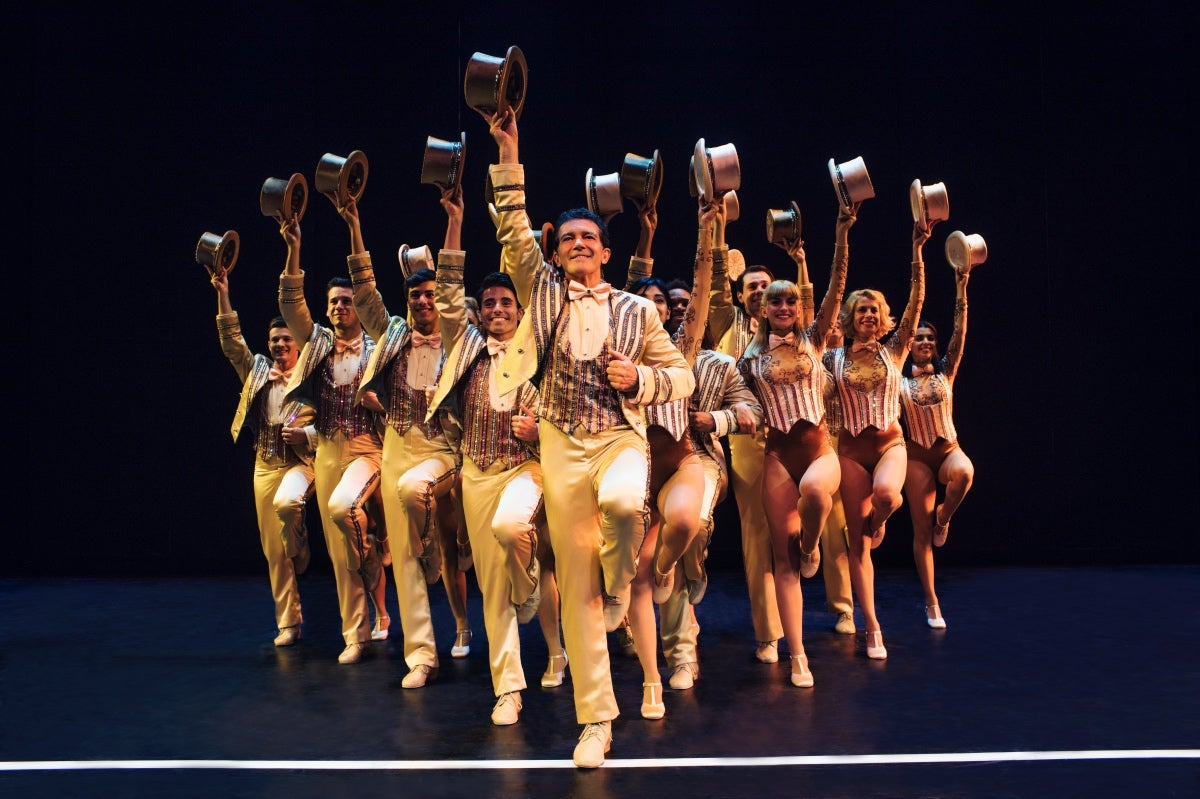Antonio Banderas on stage , A Chorus Line, Malaga, Spain, 2019