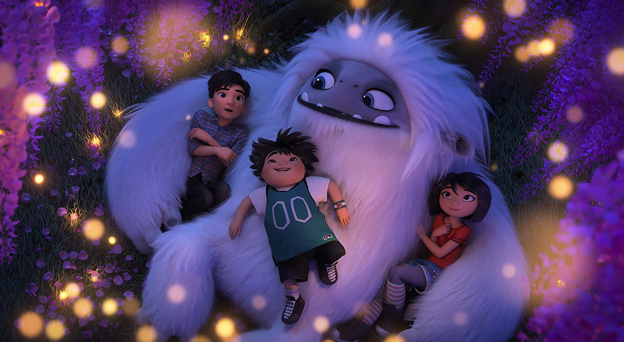 "Chloe Bennet, Albert Tsai, and Tenzing Norgay Trainor in ""Abominable"" (2019)"