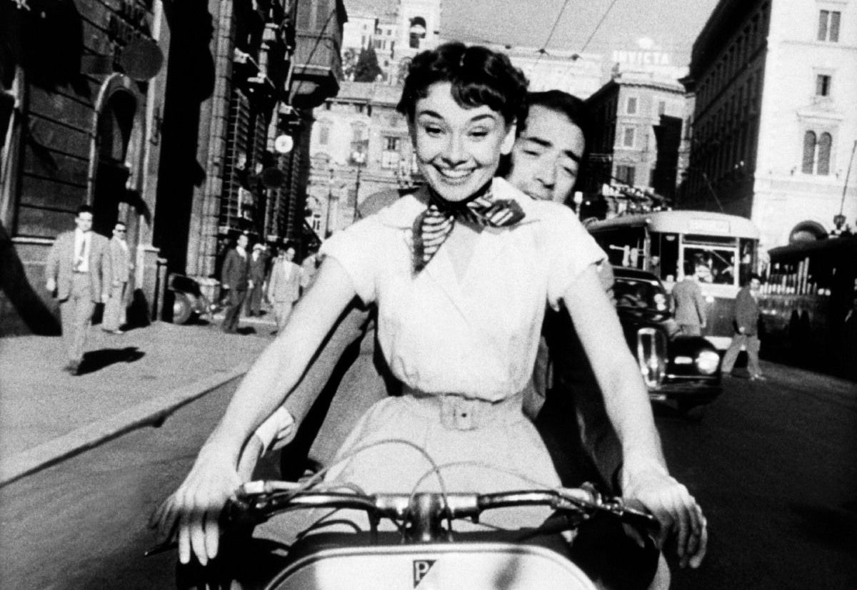 """A scene from """"Roman Holiday"""", 1953"""