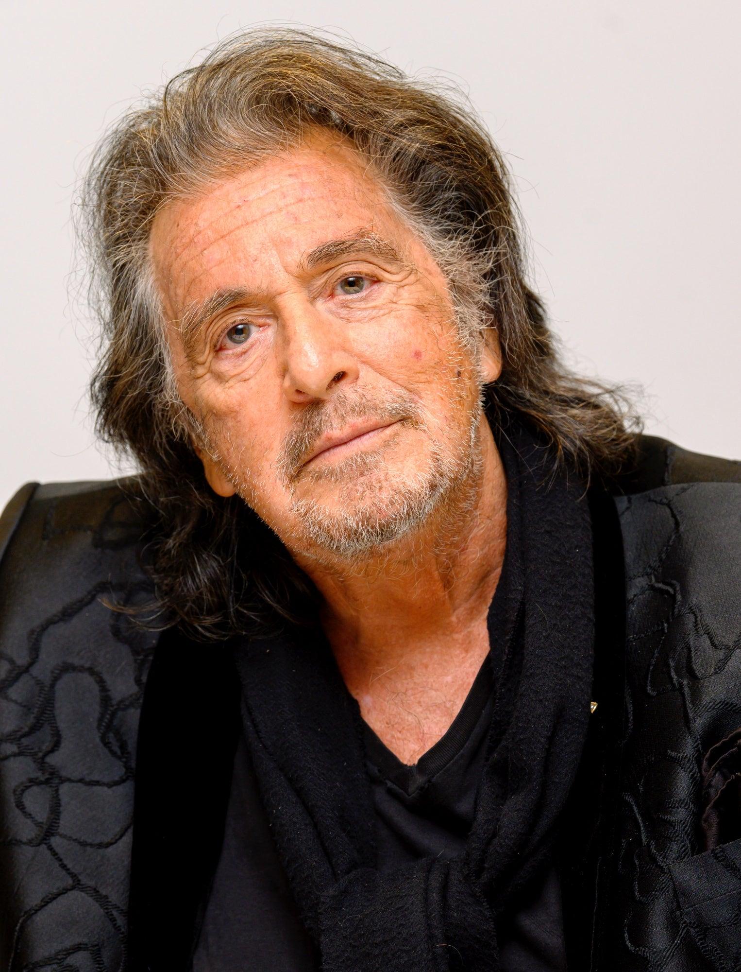 Actor Al Pacino, Golden Globe winner