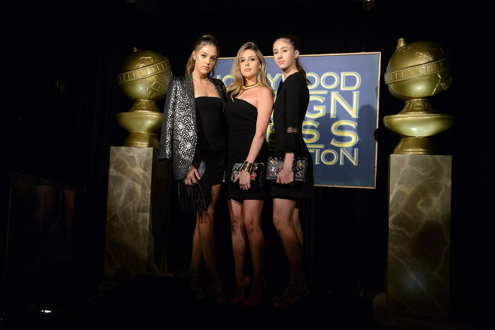 Sophia, Sistine and Scarlet Stallone, Miss Golden Globe 2017