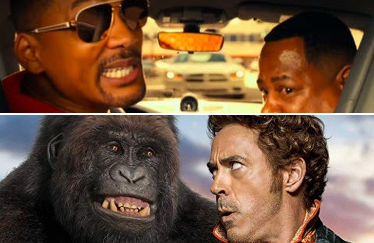 Will Smith and Martin Lawrence in Bad Boys for Life (2020), Robert Downey Jr. and Rami Malek in Dolittle (2020)