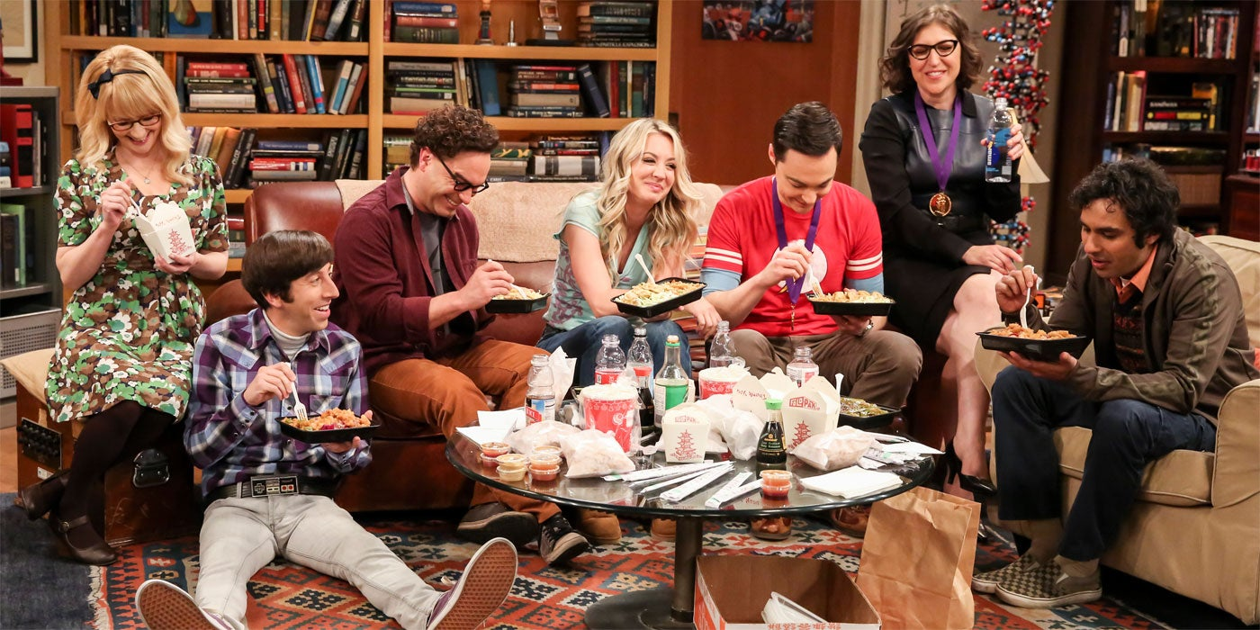Scene from the finale episode of The Big Bang Theory series