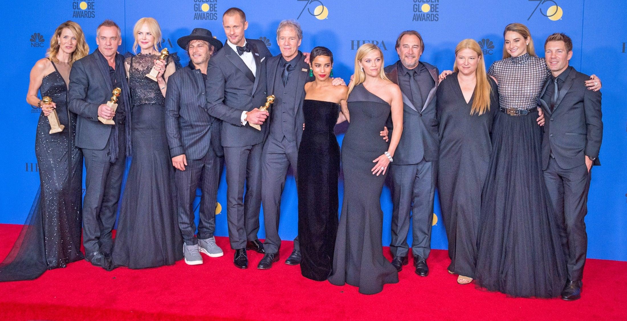 Cast and crew of Biug Little Lies, Golden Globe winnner