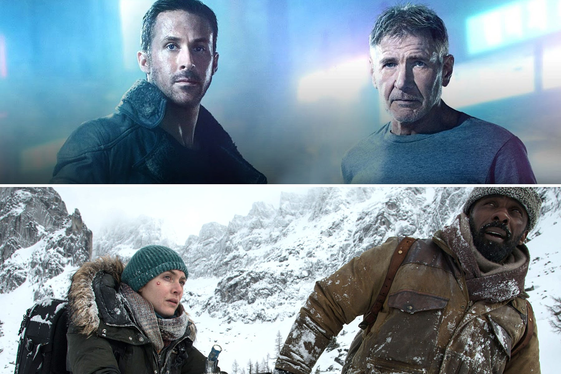 """Scenes from """"Blade Runner 2049"""" and """"The Mountain Between Us"""""""