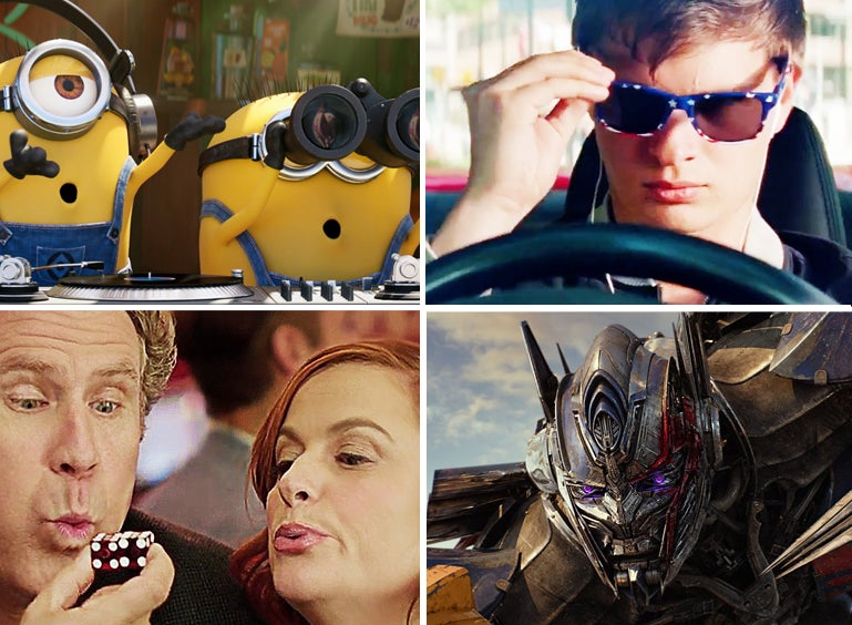 """Scenes from """"Despicable Me 3"""", """"Baby Driver"""", """"The House"""" and """"Transformers: The Last Knight"""""""
