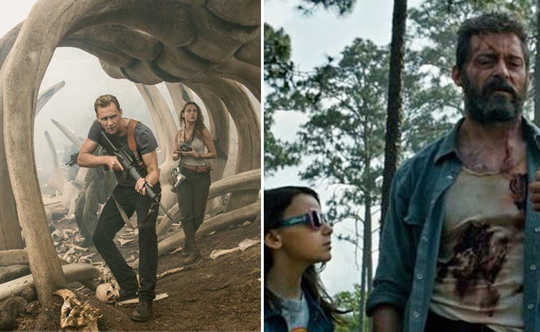 Scenes from Kong:Skull Island and Logan