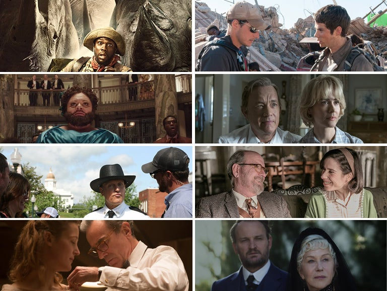 "Scenes from ""Jumanji: Welcome to the Jungle"", ""Maze Runner: The Death Cure"", ""The Greatest Showman"", ""The Post"", ""Three Billboards Outside Ebbing, Missouri"", ""The Shape of Water"" . ""The Phantom Thread"" and ""Winchester"""