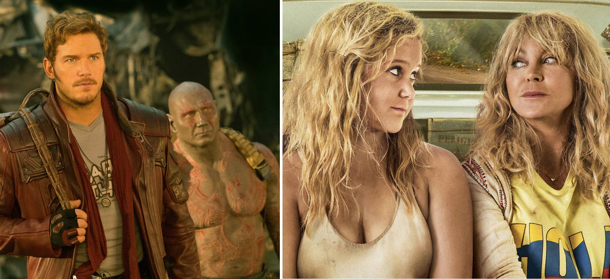 "Scenes from ""Guardians of the Galaxy Vol. 2"" and ""Snatched"""