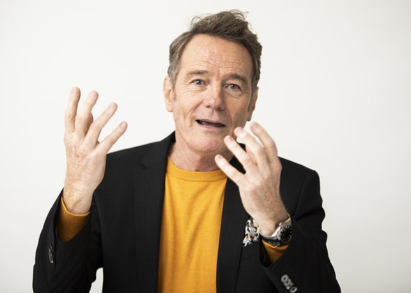 Actor Bryan Cranston, Golden Globe winner