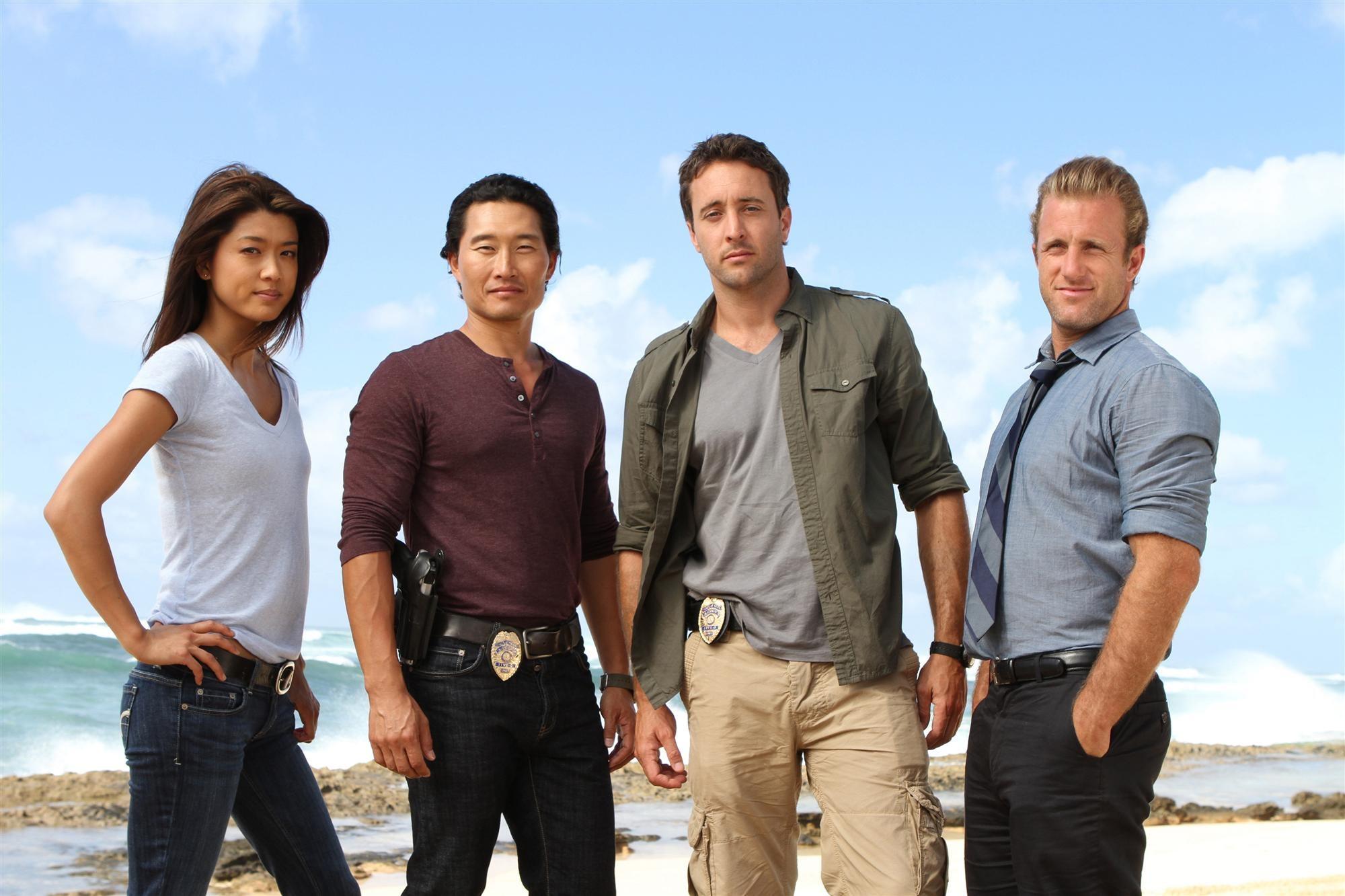 Daniel Dae Kim, Grace Park and the cast of Hawaii Five O