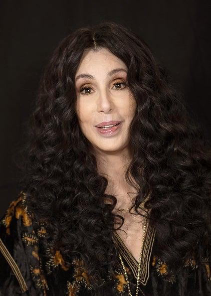 Actress, singer, producer Cher, Golden Globe winner
