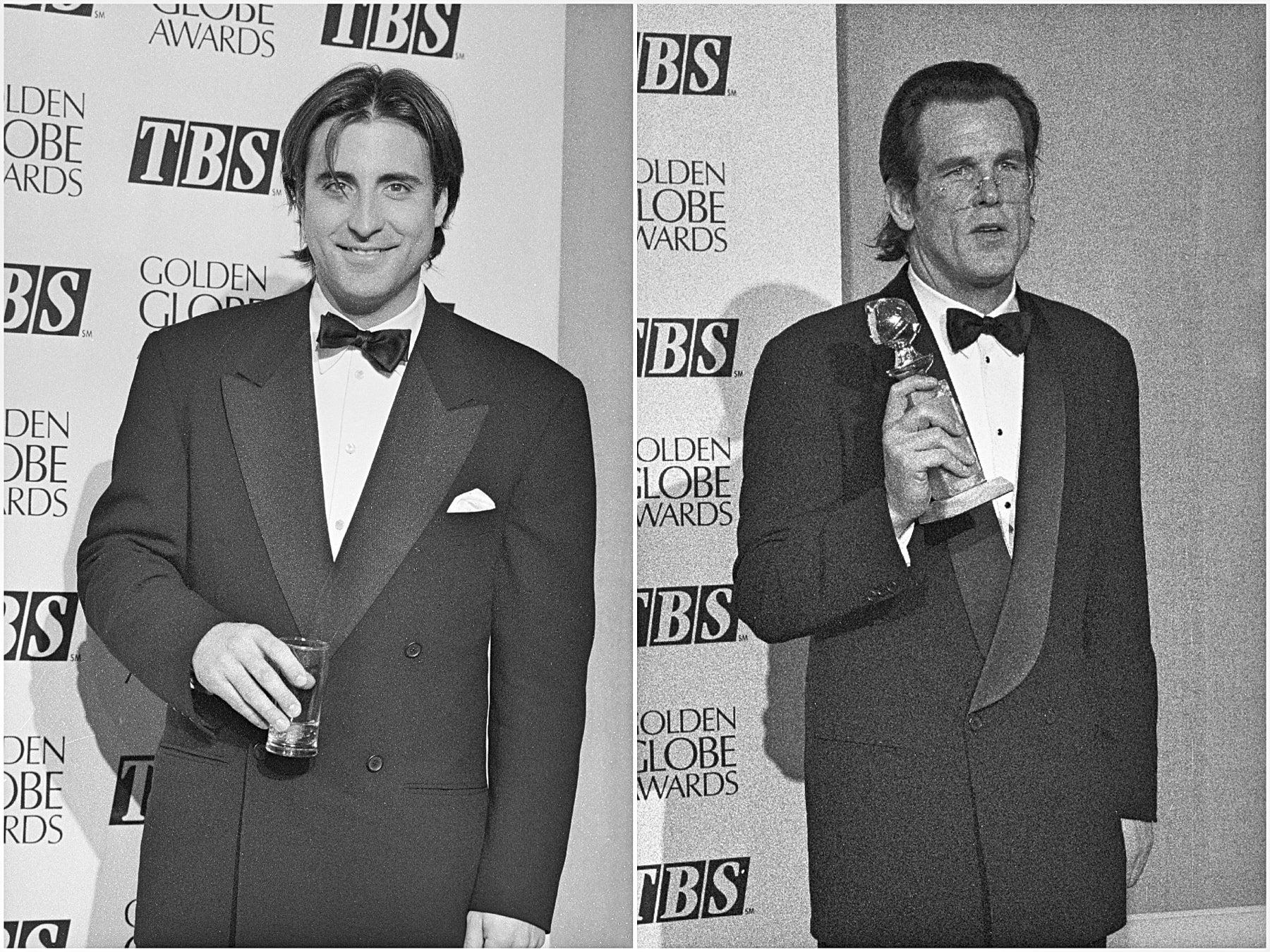 Actor Andy Garcia, Golden Globe nominee, and actor Nick Nolte, Golden Globe winner