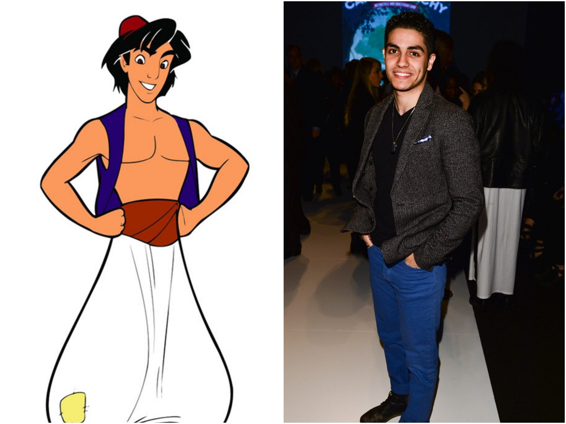 The Aladdin character by Disney and actor Mena Massoud