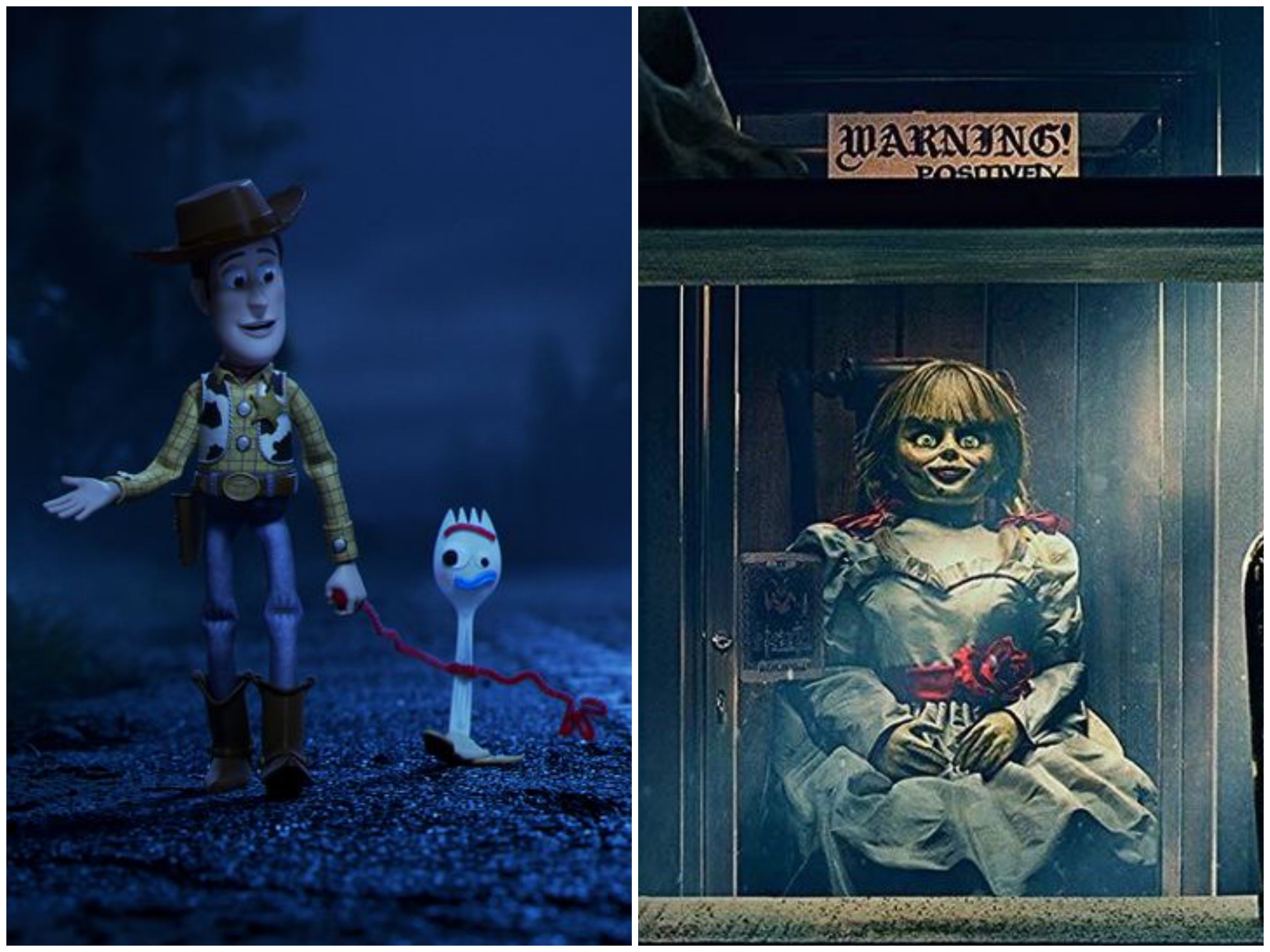 "Scenes from ""Toy Story 4"" and ""Annabelle Comes Home"", 2019"