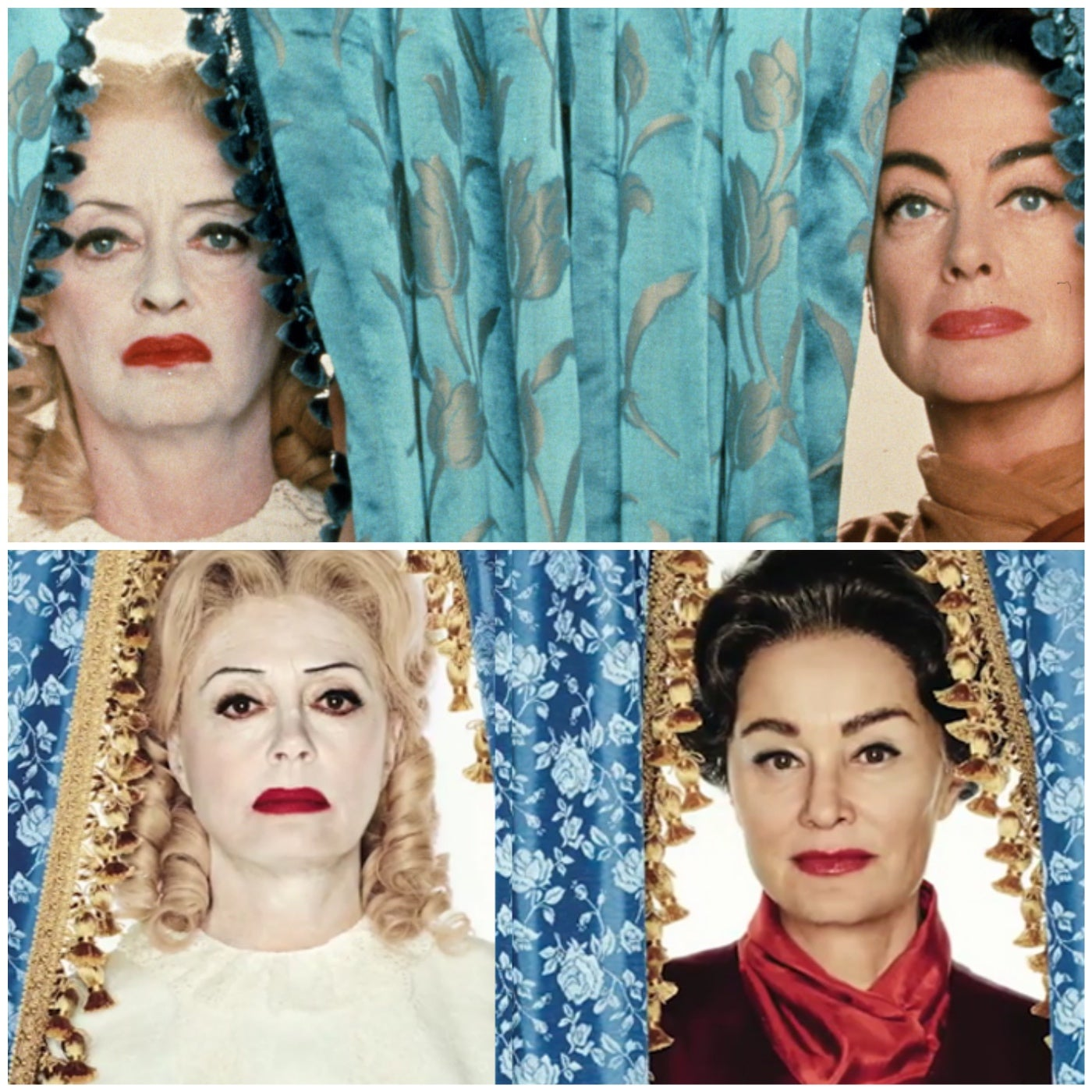 Bette Davis, Joan Crawford, Jessica Lange and Susan Sarandon